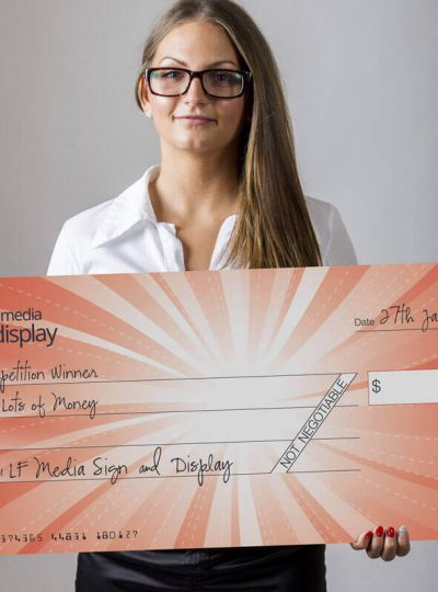 Novelty Giant Cheque Printing Perth