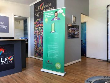 Pull-up or Roll-up Banner Stands