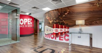 Office Reception Printed Wallpaper Perth