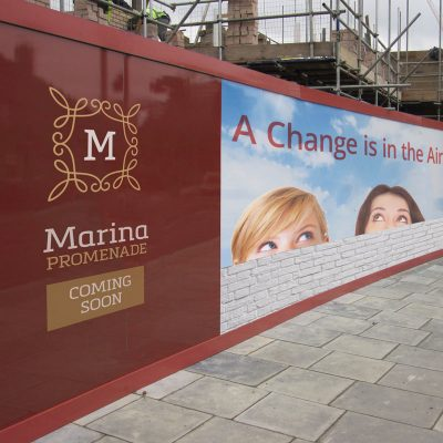 Metal Hoarding Signs for Retail, Construction or Land Developers Perth